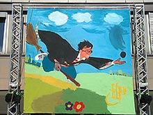 Harry Ganz Gross - Gem�lde beim Harry Potter Tag des SWR in Baden-Baden - hier klicken